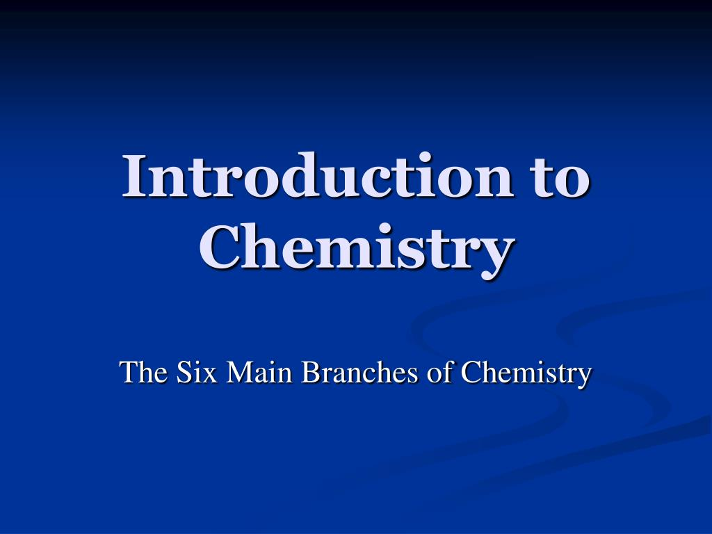 introduction to chemistry l.