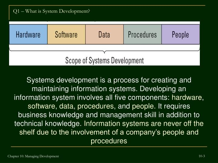Q1 what is system development