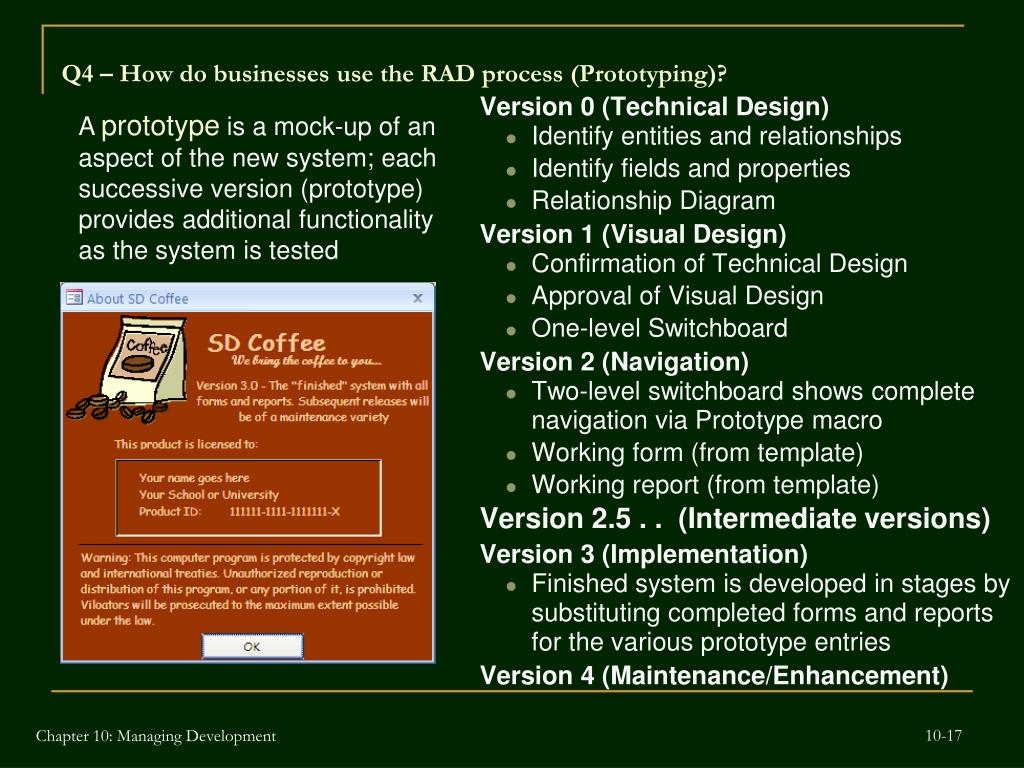 Q4 – How do businesses use the RAD process (Prototyping)?