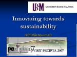 innovating towards sustainability