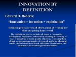 innovation by definition