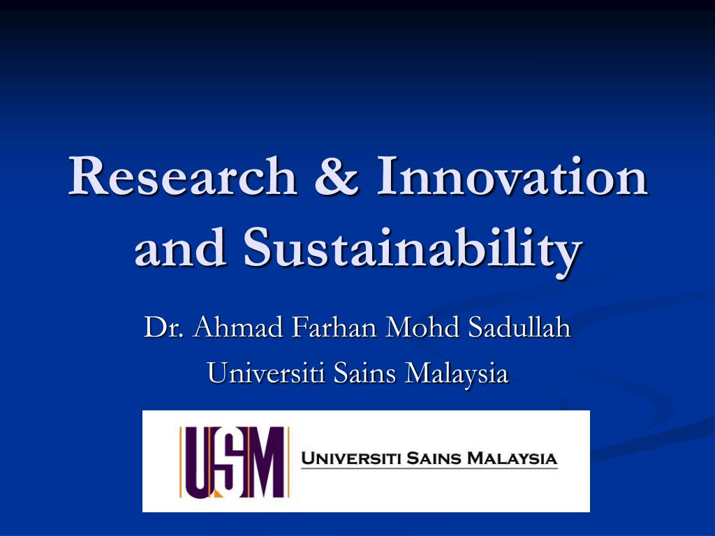 research innovation and sustainability l.