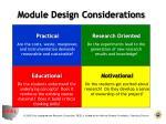 module design considerations
