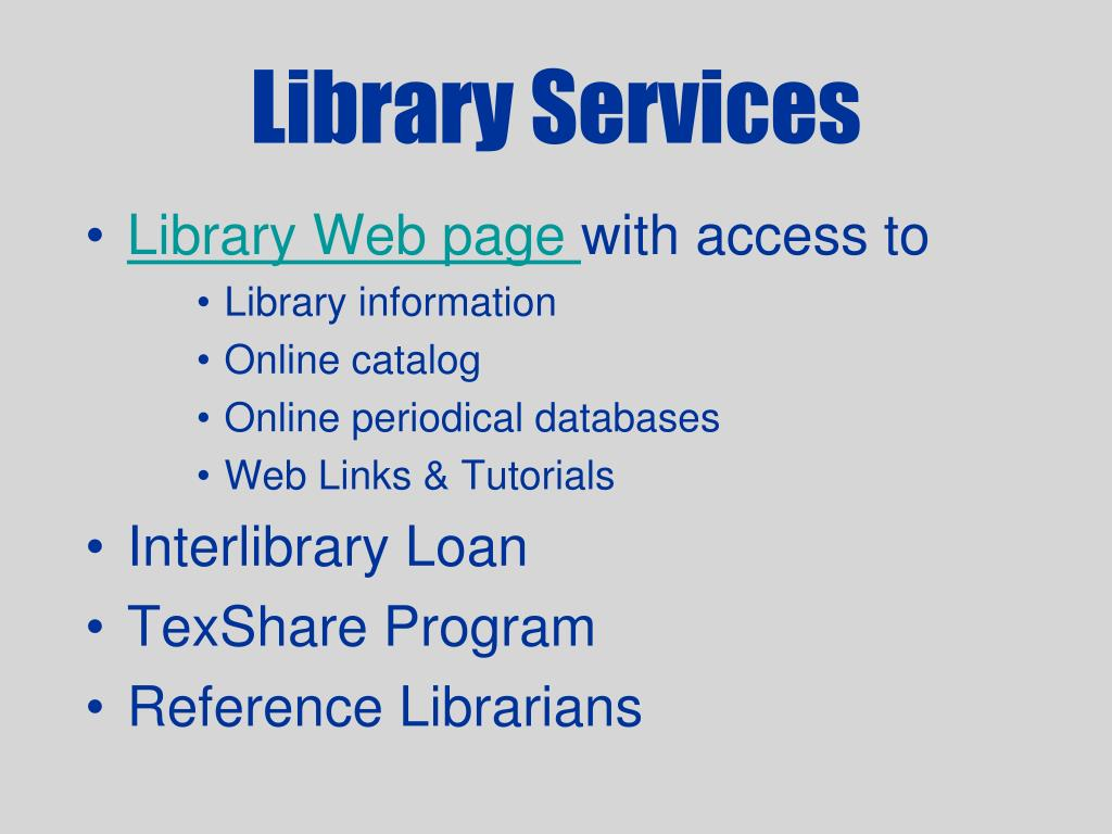 library services l.