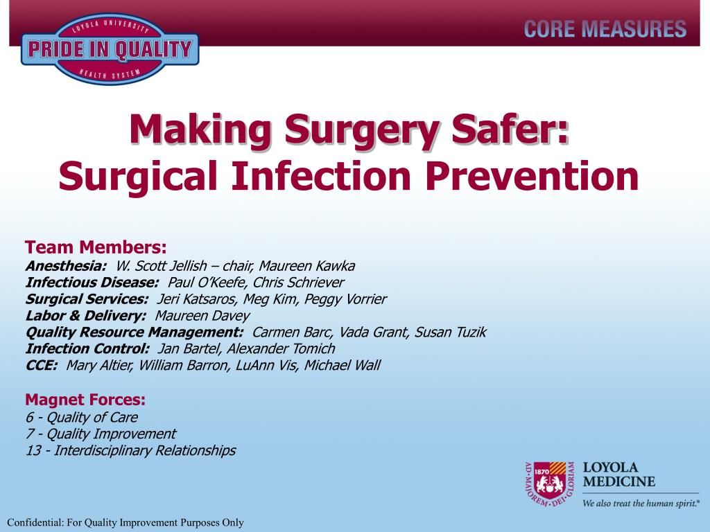 making surgery safer surgical infection prevention l.