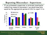 reporting misconduct supervisors