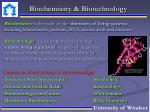 biochemistry biotechnology