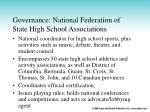 governance national federation of state high school associations