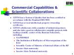 commercial capabilities scientific collaborations