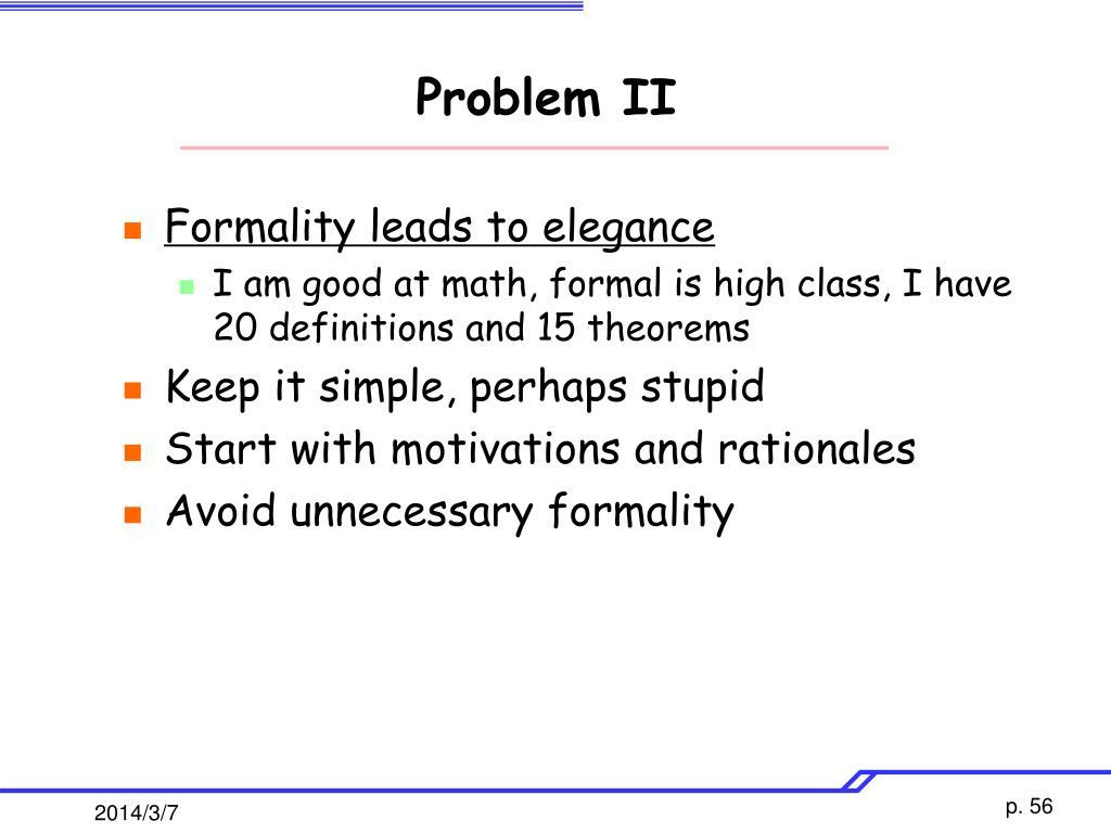 Problem II