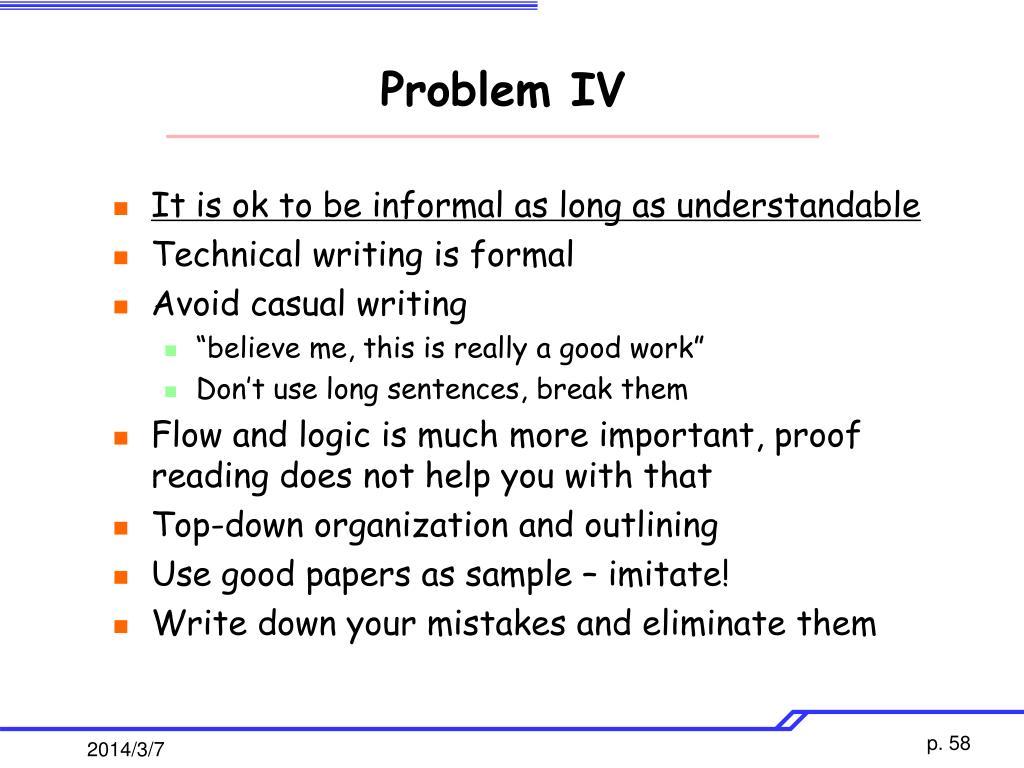 Problem IV