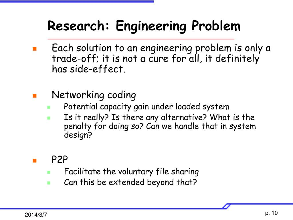 Research: Engineering Problem