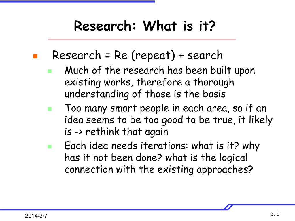 Research: What is it?