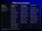 trwg subcommittees