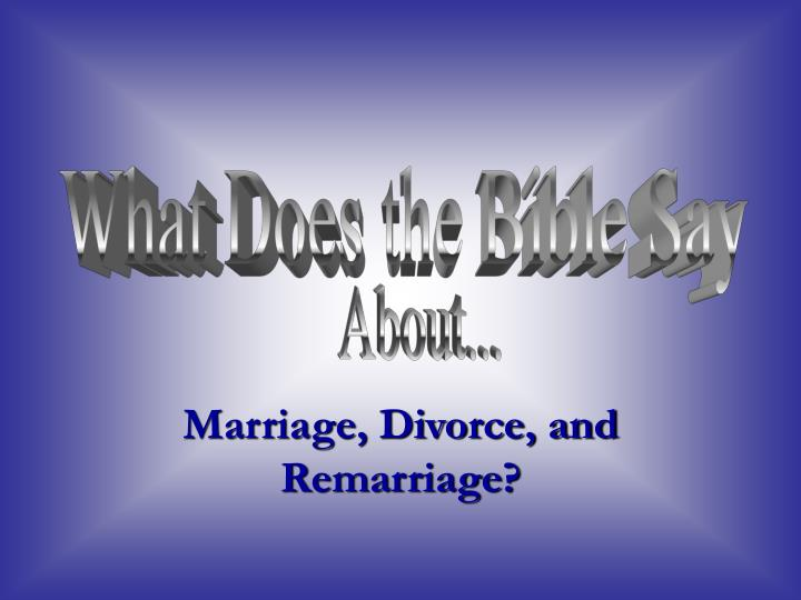 marriage divorce and remarriage n.