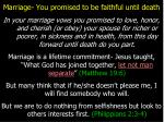 marriage you promised to be faithful until death