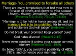 marriage you promised to forsake all others
