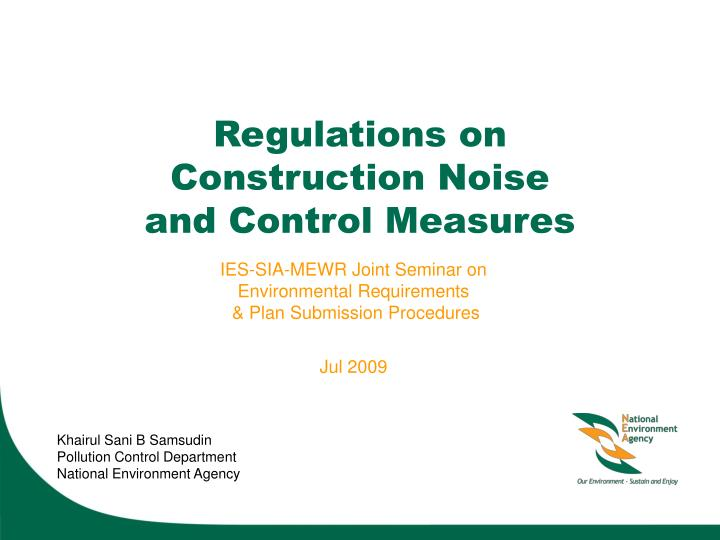 regulations on construction noise and control measures n.