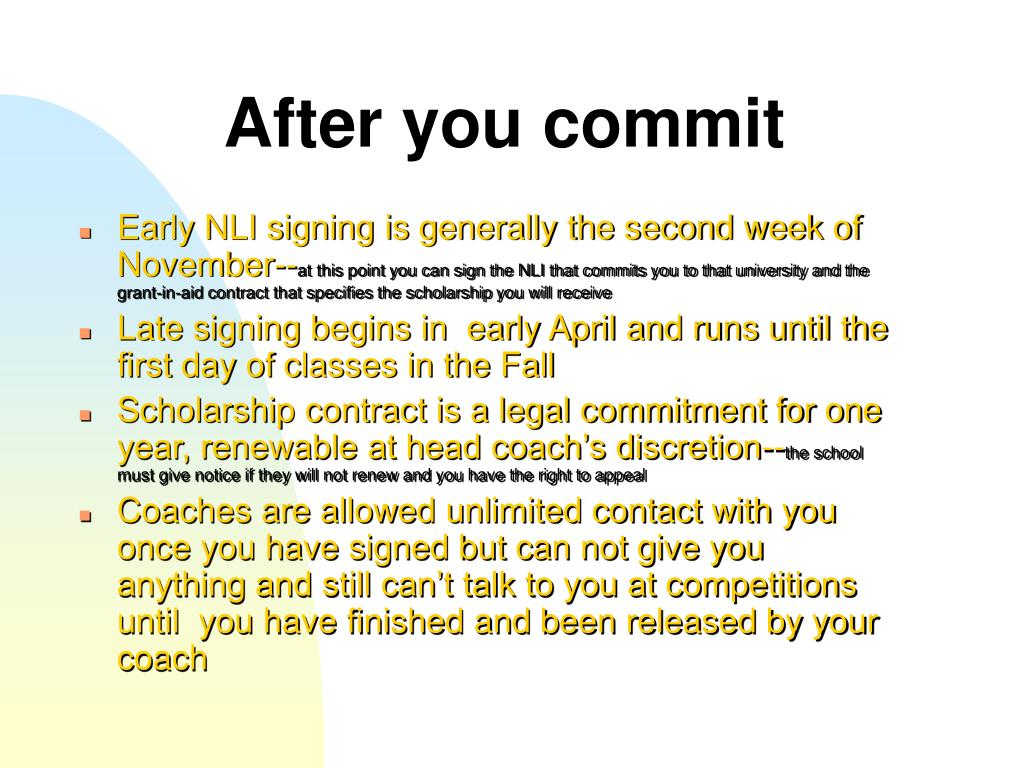 After you commit