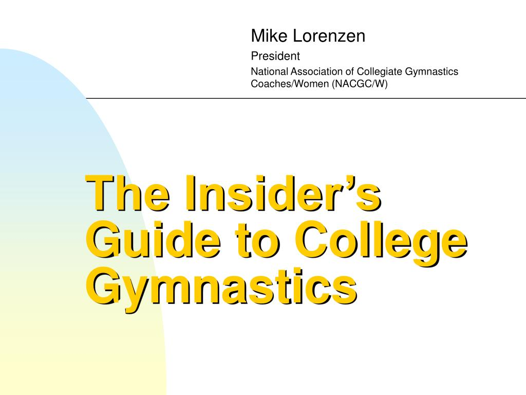 the insider s guide to college gymnastics l.
