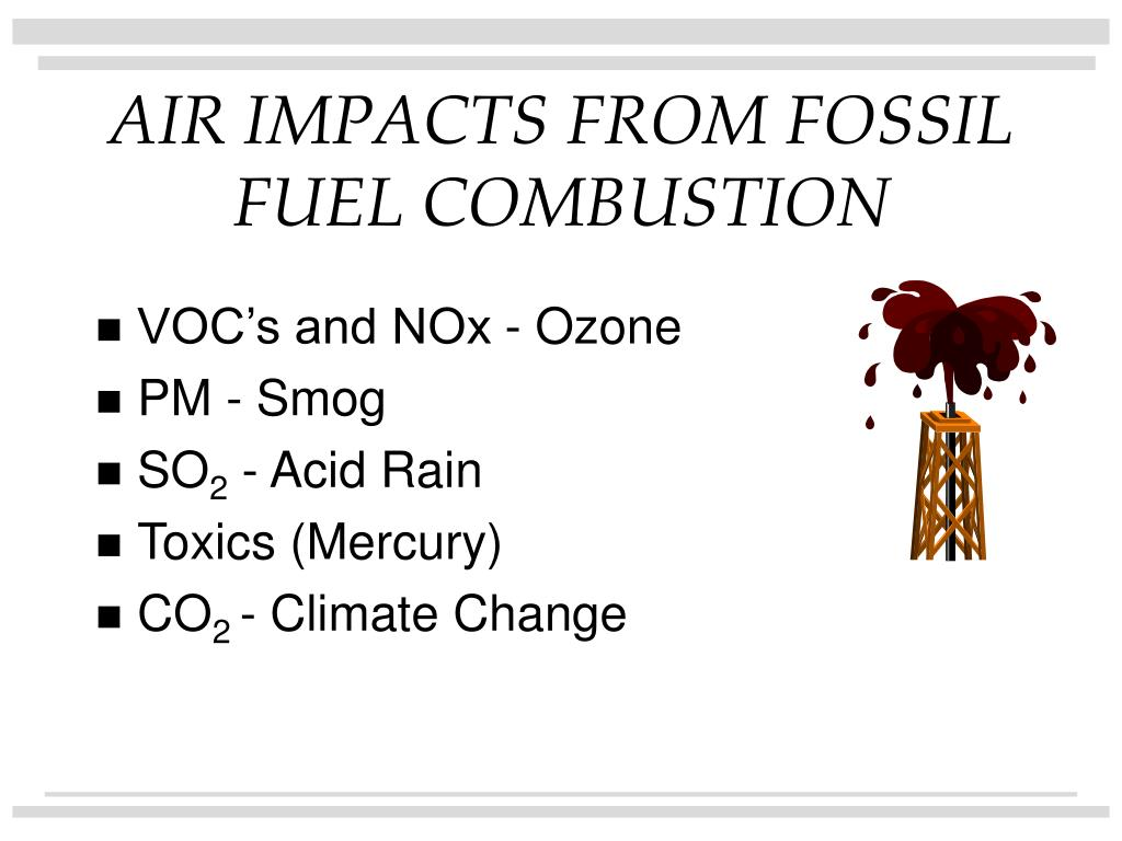 AIR IMPACTS FROM FOSSIL FUEL COMBUSTION