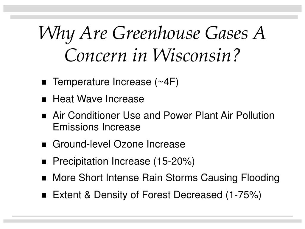 Why Are Greenhouse Gases A Concern in Wisconsin?