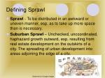 defining sprawl