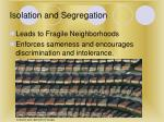 isolation and segregation18