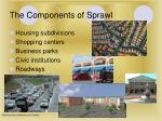 the components of sprawl