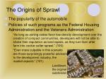 the origins of sprawl