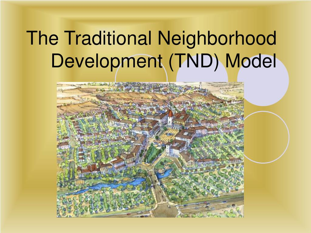 sprawl vs traditional neighborhoods