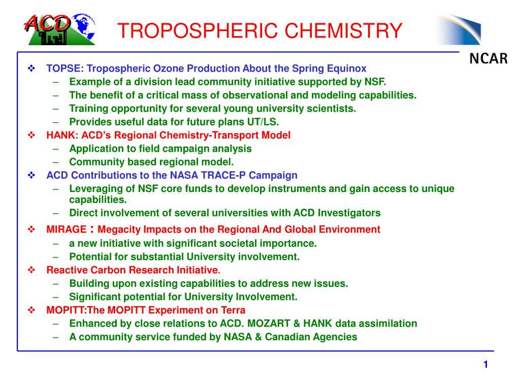 tropospheric chemistry l.