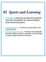 2 sports and learning