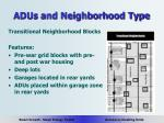 adus and neighborhood type10