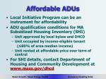 affordable adus