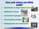 how and where are adus built