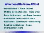 who benefits from adus