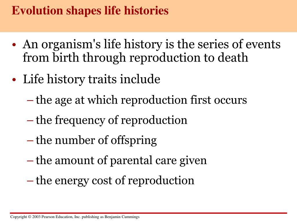 Evolution shapes life histories