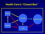 health care s closed box