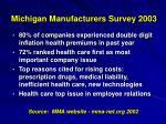 michigan manufacturers survey 2003