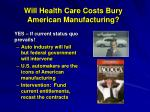 will health care costs bury american manufacturing