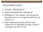 assessment cont