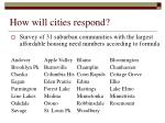 how will cities respond