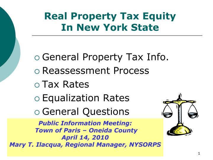 real property tax equity in new york state n.