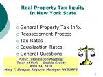 real property tax equity in new york state