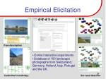 empirical elicitation