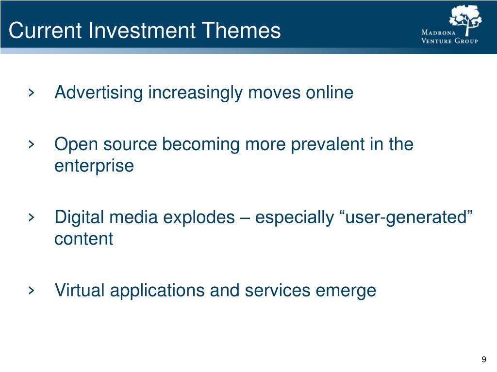 Current Investment Themes