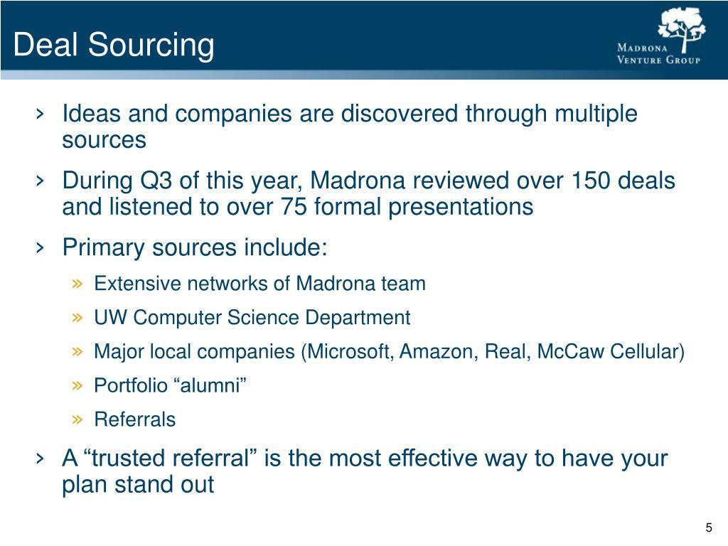 Deal Sourcing