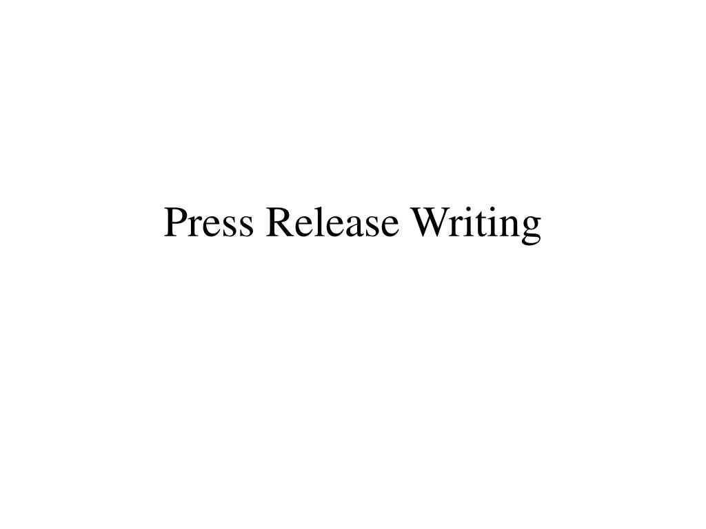 press release writing l.