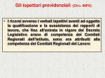 gli ispettori previdenziali circ inps43